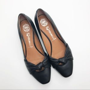 Jeffery Campbell | Black Kitten Heart Heel Flats